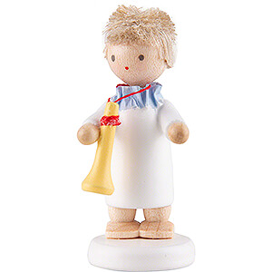 Angels Flade Flax Haired Angels Flax Haired Angel with Trumpet - 5 cm / 2 inch