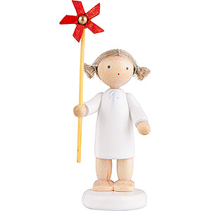 Angels Flade Flax Haired Angels Flax Haired Angel with Wind Wheel - 5 cm / 2 inch