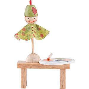 Small Figures & Ornaments Flade Flax Haired Children Flax Haired Children Bench with Punch - 4 cm / 1.6 inch