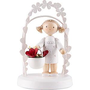 Gift Ideas Birthday Flax Haired Children - Birthday Child with Amaryllis - 7,5 cm / 3 inch