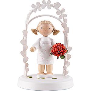 Gift Ideas Birthday Flax Haired Children - Birthday Child with Rowanberries - 7,5 cm / 3 inch