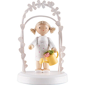 Gift Ideas Birthday Flax Haired Children - Birthday Child with Watering Can - 7,5 cm / 3 inch