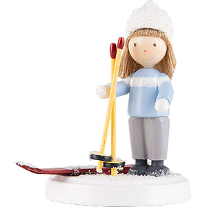 Small Figures & Ornaments Flade Flax Haired Children Flax Haired Children Boy on Ski - 5 cm / 2 inch