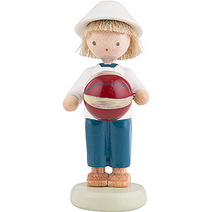 Small Figures & Ornaments Flade Flax Haired Children Flax Haired Children Boy with Ball - 5 cm / 2 inch