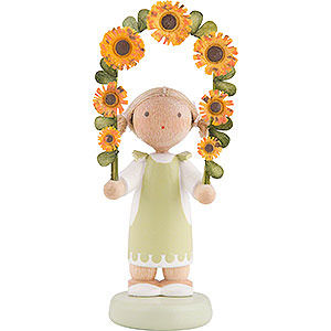 Small Figures & Ornaments Flade Flax Haired Children Flax Haired Children Boy with Flower Garland - 5 cm / 2 inch