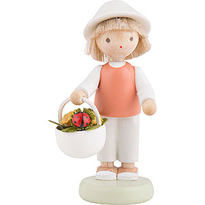 Small Figures & Ornaments Flade Flax Haired Children Flax Haired Children Boy with Lady Bug - Ca. 5 cm / 2 inch