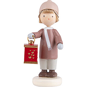 Small Figures & Ornaments Flade Flax Haired Children Flax Haired Children Boy with Miner's Lantern - 5 cm / 2 inch