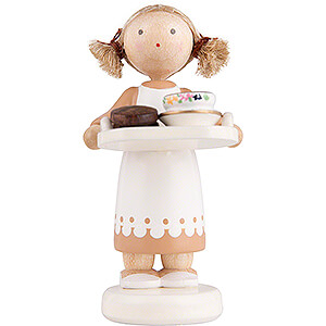Small Figures & Ornaments Flade Flax Haired Children Flax Haired Children Chocolate Girl - 5 cm / 2 inch