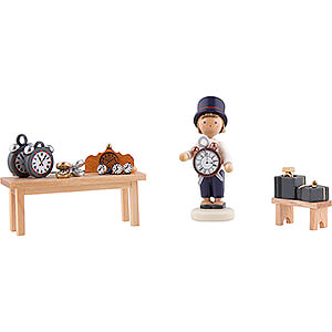 Small Figures & Ornaments Flade Flax Haired Children Flax Haired Children Clockmaker - 5 cm / 2 inch