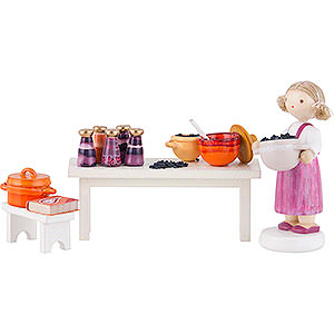 Small Figures & Ornaments Flade Flax Haired Children Flax Haired Children Fruit Jam Kitchen - 8 cm / 3.1 inch