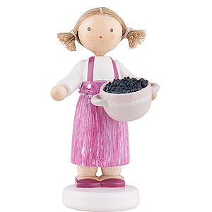 Small Figures & Ornaments Flade Flax Haired Children Flax Haired Children Girl with Blackberries - 5 cm / 2 inch