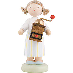 Small Figures & Ornaments Flade Flax Haired Children Flax Haired Children Girl with Coffee Mill - 5 cm / 2 inch