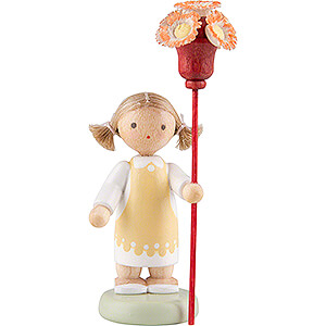 Small Figures & Ornaments Flade Flax Haired Children Flax Haired Children Girl with Flower Sceptre - 5 cm / 2 inch
