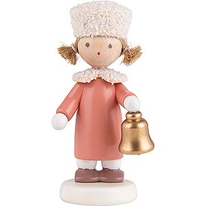 Small Figures & Ornaments Flade Flax Haired Children Flax Haired Children Girl with Fur Hat - 5 cm / 2 inch