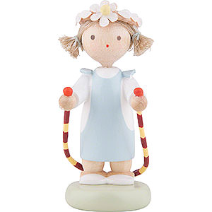 Small Figures & Ornaments Flade Flax Haired Children Flax Haired Children Girl with Jump Rope - 5 cm / 2 inch