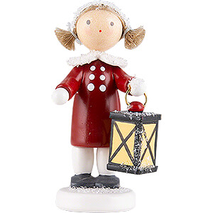 Small Figures & Ornaments Flade Flax Haired Children Flax Haired Children Girl with Lantern - 5 cm / 2 inch