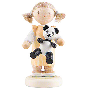 Small Figures & Ornaments Flade Flax Haired Children Flax Haired Children Girl with Panda - 5 cm / 2 inch