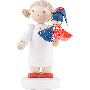Small Figures & Ornaments Flade Flax Haired Children Flax Haired Children Girl with Punch Red/Blue - 5 cm / 2 inch