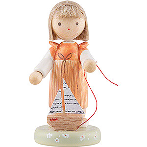 Small Figures & Ornaments Flade Flax Haired Children Flax Haired Children Girl with Sailboat - Edition Flade & Friends - 5 cm / 2 inch