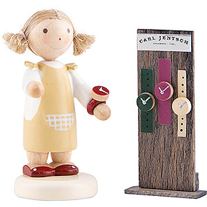 Small Figures & Ornaments Flade Flax Haired Children Flax Haired Children Girl with Watches - 5 cm / 2 inch