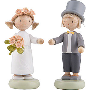 Small Figures & Ornaments Flade Flax Haired Children Flax Haired Children Kid's Wedding - 5 cm / 2 inch