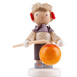 Small Figures & Ornaments Flade Flax Haired Children Flax Haired Children Little Boy with Lampion - Edition Flade & Friends - 4 cm / 1.6 inch