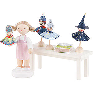 Small Figures & Ornaments Flade Flax Haired Children Flax Haired Children Puppeteer - 5 cm / 2 inch