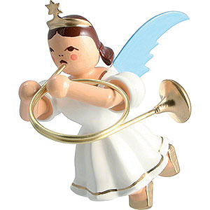 Angels Angel Ornaments Floating Angels Floating Angel Colored, Alto Horn - 6,6 cm / 2.6 inch