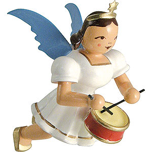 Angels Angel Ornaments Floating Angels Floating Angel Colored, Drum - 6,6 cm / 2.6 inch