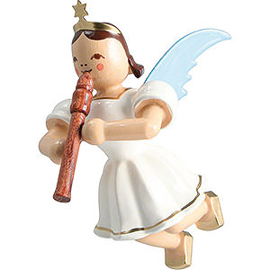 Angels Angel Ornaments Floating Angels Floating Angel Colored, Flute - 6,6 cm / 2.6 inch