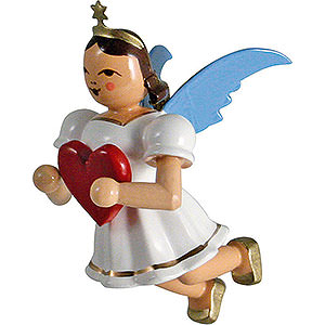 Angels Angel Ornaments Floating Angels Floating Angel Colored, Heart - 6,6 cm / 2.6 inch