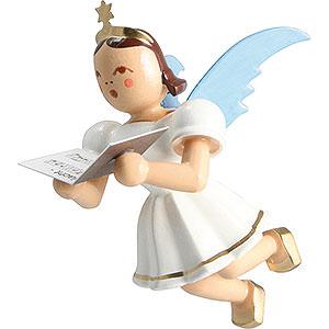 Angels Angel Ornaments Floating Angels Floating Angel Colored, Singer - 6,6 cm / 2.6 inch