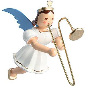 Angels Angel Ornaments Floating Angels Floating Angel Colored, Slide Trombone - 6,6 cm / 2.6 inch