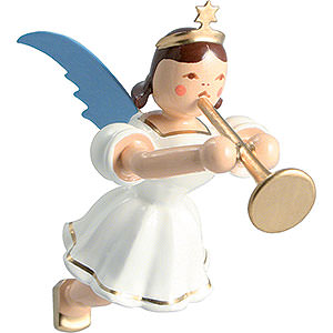 Angels Angel Ornaments Floating Angels Floating Angel Colored, Trombone - 6,6 cm / 2.6 inch