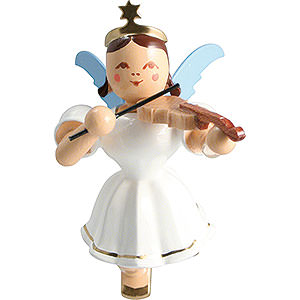 Angels Angel Ornaments Floating Angels Floating Angel Colored, Violin - 6,6 cm / 2.6 inch