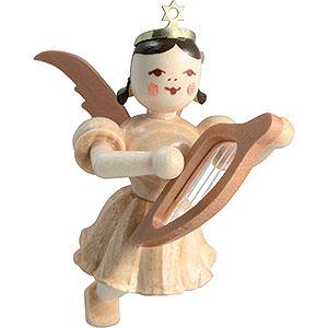 Angels Short Skirt Floating Angels (Blank) Floating Angel Lyre, Natural - 6,6 cm / 2.6 inch