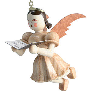 Angels Short Skirt Floating Angels (Blank) Floating Angel Singer, Natural - 6,6 cm / 2.6 inch