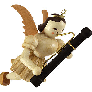 Tree ornaments Angel Ornaments Floating Angels Floating Angel with Bassoon - 9 cm / 3.5 inch