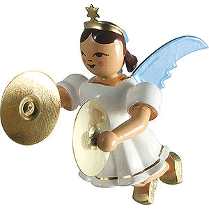 Tree ornaments Angel Ornaments Floating Angels Floating Angel with Cymbals, Colored - 6,6 cm / 2.6 inch