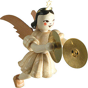 Tree ornaments Angel Ornaments Floating Angels Floating Angel with Cymbals, Natural - 6,6 cm / 2.6 inch
