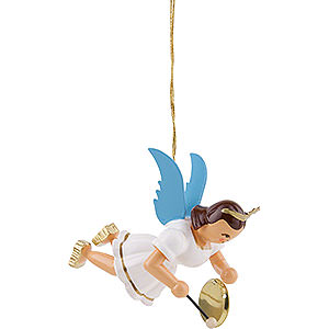 Tree ornaments Angel Ornaments Floating Angels Floating Angel with Gong, Colored - 6,6 cm / 2.6 inch