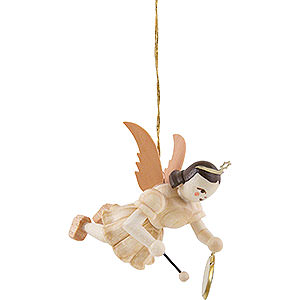 Tree ornaments Angel Ornaments Floating Angels Floating Angel with Gong, Natural - 6,6 cm / 2.6 inch