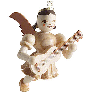 Tree ornaments Angel Ornaments Floating Angels Floating Angel with Guitar - Natural - 6,6 cm / 2.6 inch