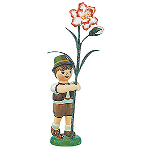 Small Figures & Ornaments Hubrig Flower Kids Flower Child Boy with Carnation - 11 cm / 4,3 inch