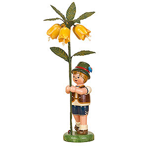 Small Figures & Ornaments Hubrig Flower Kids Flower Child Boy with Imperial Crown - 17 cm / 7 inch