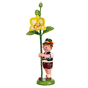 Small Figures & Ornaments Hubrig Flower Kids Flower Child Boy with Orchis - 11 cm / 4,3 inch