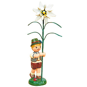Small Figures & Ornaments Hubrig Flower Kids Flower Child Boy with Precious White - 11 cm / 4,3 inch