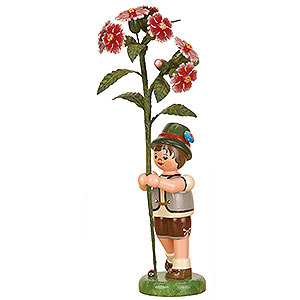 Small Figures & Ornaments Hubrig Flower Kids Flower Child Boy with Ragged Pink - 17 cm / 7 inch