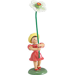 Small Figures & Ornaments Flower children Flower Child Christmas Rose, Colored - 12 cm / 4.7 inch