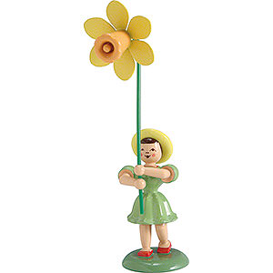 Small Figures & Ornaments Flower children Flower Child Daffodil, Colored - 12 cm / 4.7 inch